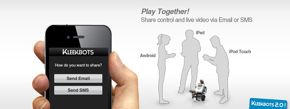 Play together! Share conrol via Email or SMS