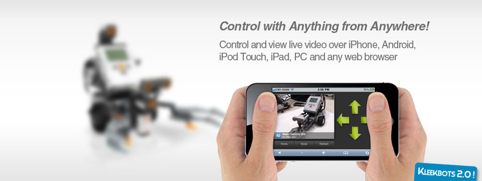 Control with Anything from Anywhere! Control and view live video over iPhone, Android, iPod Touch, iPad, PC and any web browser